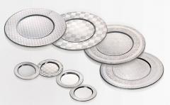 Platos de acer inóxidable