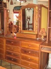 Cómoda 8 cajones de 1,20m con espejo y cajón grande