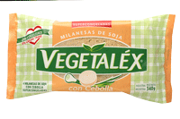 Milanesa de soja con cebolla Vegetalex