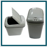 Cesto plástico con tapa