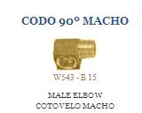 Codo 90º Macho