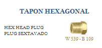 Tapón hexagonal