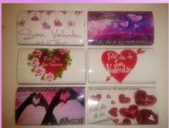 Diseños para chocolates y cajas de San Valentín