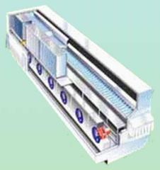 Túneles de congelamiento rápido (IQF)  Túnel Recto