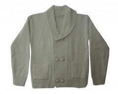 Sweater lana para varón con 6 botones
