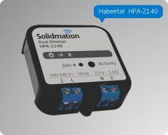 Dimmer para Domótica de dos Canales de Montaje Embutido en Caja Eléctrica Habeetat® HPA-2140