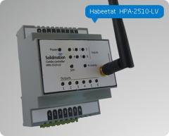 Controlador de 2 cortinas + 2 interruptores para domótica, de montaje riel DIN Habeetat® HPA-2510-LV