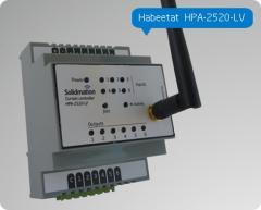 Controlador de cortinas de 3 canales para domótica, de montaje riel DIN Habeetat® HPA-2520-LV