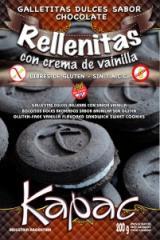Galletitas Dulces de Chocolate Rellenas con Sabor a Vainilla