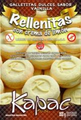 Galletitas Dulces Rellenas con Sabor a Limón