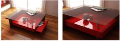 Mesa ratona en laca roja