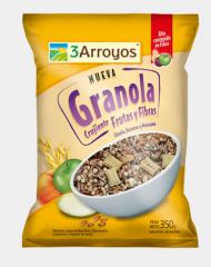 Granola crujiente frutas y fibras