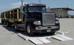 Báscula para camiones transportable para dos ejes de camiones Modelo