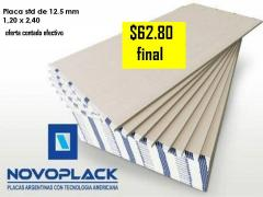 Placas de yeso novoplack 1,20 x 2,40 en 12.5 mm