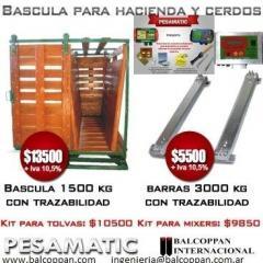 BALANZA Y BACSULAS AGROGANADERAS INDUSTRIALES  CON TRAZABILIDAD