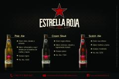 Cerveza Artesanal Estrella Roja Porrones de 355cm3