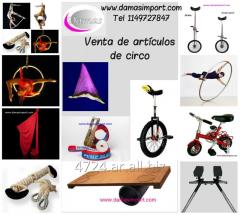 Circo: Venta de trapecios, telas, liras, zancos, monociclos, slackline, cuerda y más