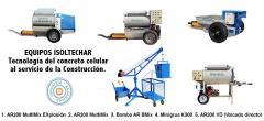 Equipos para la elaboración de concreto celular.