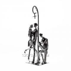 Escultura de Tango - Pareja con Bandoneonista