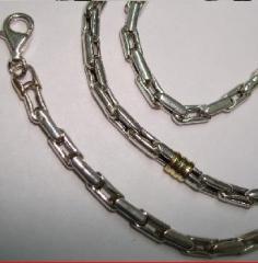 Cadena de plata con oro