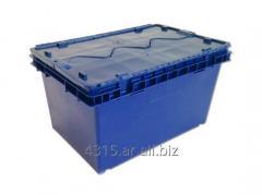 Cajon logistico de plastico con tapa