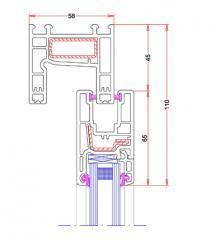 Sistema deslizante horizontal Ekoline CR 58 mm (