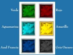 Ladrillos de vidrio de color