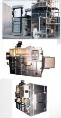 Horno para incineración de productos químicos