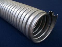 Caño flexible de protección agrafado simple