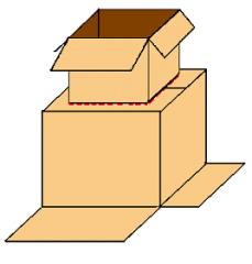 Insulating cardboard