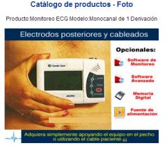 Producto:Monitoreo ECG   Modelo:Monocanal de 1