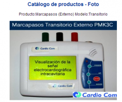Producto:Marcapasos (Externo)  Modelo:Transitorio