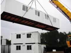 Modular building fast-erected