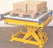 Plataforma Elevadora con Transportador a Rodillos