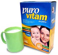 Alimento Vitamínico Puro Vitam en polvo.