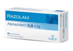 Alprazolam Razolam  0,5 mg. x  60