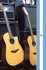 Guitarra acústica con cuerdas de acero EA15EQG
