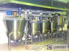 Equipment for the production of sauce