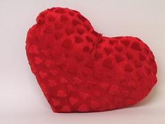 Almohadon corazon rojo grande