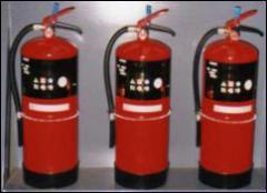 Extintor a base de HCFC123.