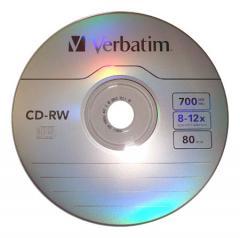 CD-RW Verbatim Regrabable 4x