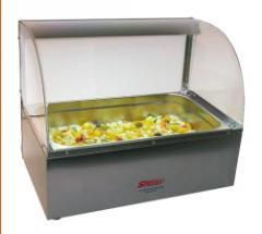 Exhibidor frio a hielo de Ensalada de frutas