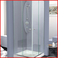 Mampara para baño cristal