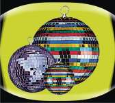 Zebra bola de espejos color
