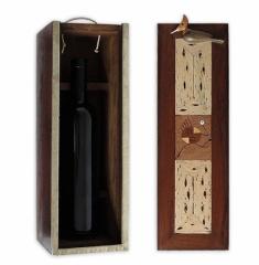 Caja p/ Vino 3 Maderas