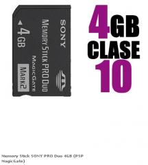 Memory Stick SONY PRO Duo 4GB (PSP MagicGate)