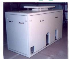 Cabina acústica de aire calefaccionado