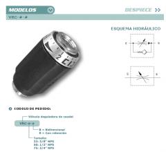 Válvulas reguladora de caudal construción axial