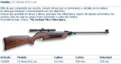 Rifle de aire modelo 05