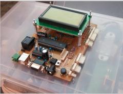 Placas de control con  pantalla GLCD de 128x64